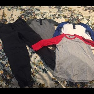 Boys LOT GAP, OLD NAVY & ADIDAS SHIRTS MEDIUM 7-8